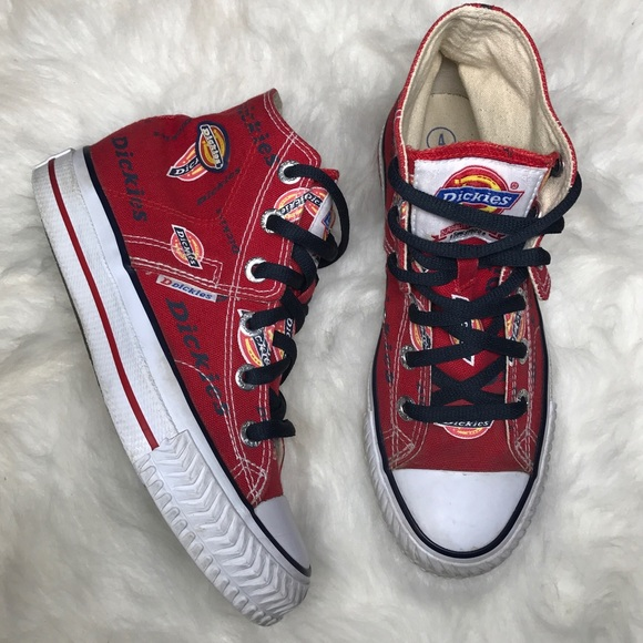 d782b12e852 Dickies red canvas high top sneakers